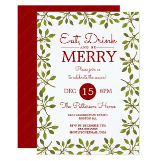 holiday party invitations cards announcements zazzle