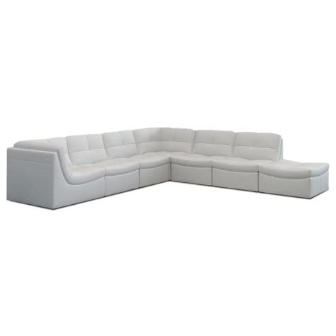 7 piece modular sectional lexicon 7pc modular sectional white eurway modern