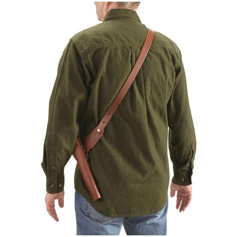 blackhawk grip holster review ruger blackhawk leather shoulder holster rig 44
