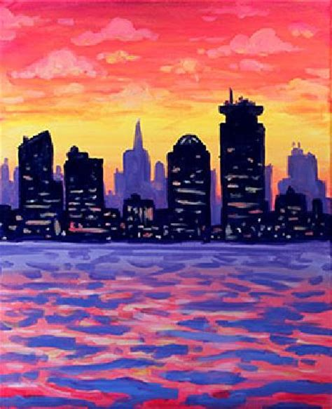 paint nite boston january paint nite boston sunset more than a buzz