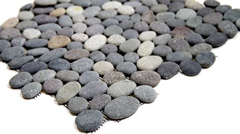 the pebble in my natural color sea pebbles mosaic tiledaily