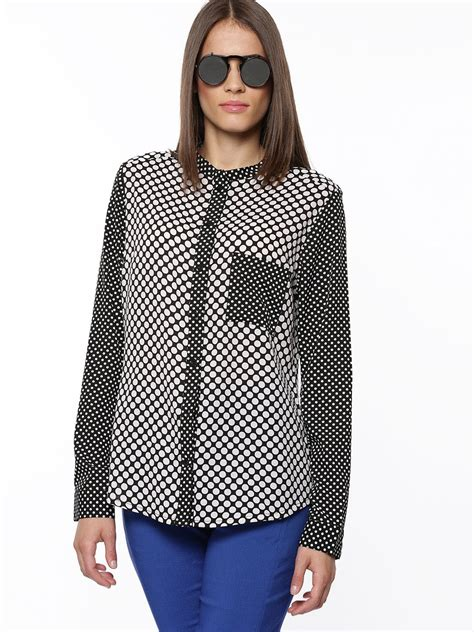 Small Polka Mix Shirt buy koovs mix and match polka dot blouse for s multi casual shirts in india