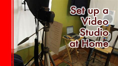 how to set up a studio at home