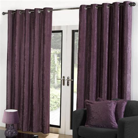 lined velvet curtains sundour velvet lined eyelet curtains heather