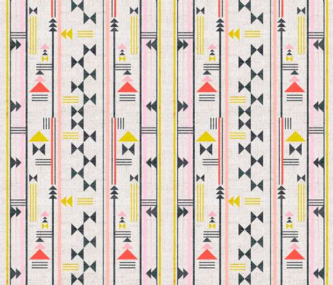 french_linen_taos_geo fabric holli_zollinger spoonflower