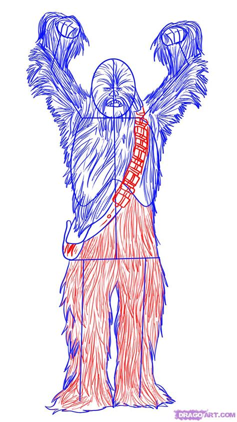 How To Draw Chewbacca how to draw chewbacca the wookie step by step wars