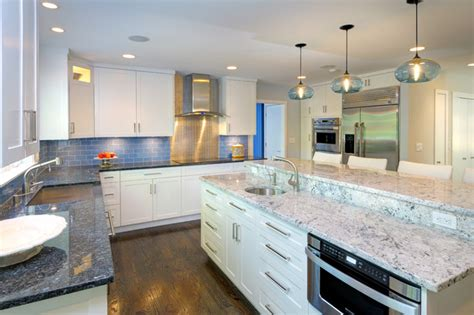 modern kitchen countertops and backsplash contrasting countertops backsplash