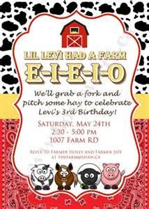 old macdonald farm birthday invitation printable