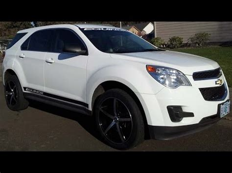 aftermarket wheels and decals on chevrolet equinox youtube