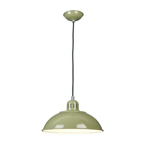Green Ceiling Light Green Painted Metal Ceiling Pendant Light In Vintage 1950 S Design