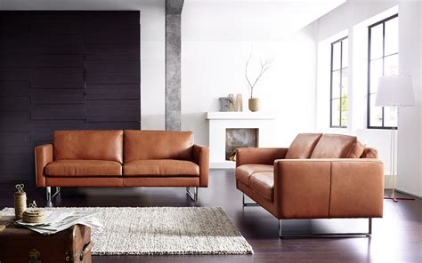 brown modern sofa leather sofas modern modern leather sofa set he66 sofas