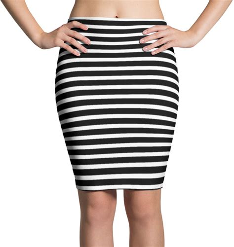 black and white striped skirt black white striped pencil skirt designed by squeaky