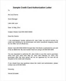 Authorization Letter Format To Use Credit Card Credit Card Authorization Letter 10 Download Documents
