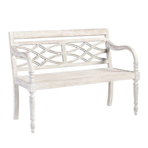 whitewash bench ceylon whitewash garden bench ballard designs