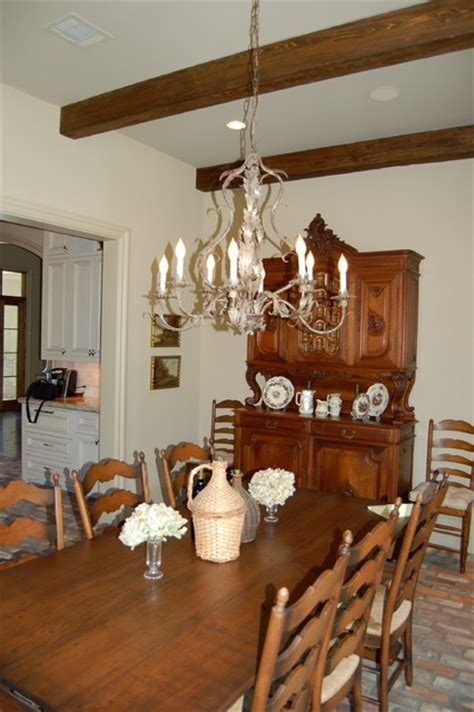 country lighting traditional dining room