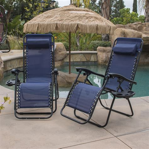 pool patio chairs zero gravity chairs of 2 blue lounge patio chair