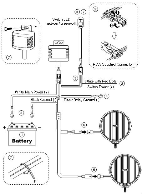piaa driving light switch wiring diagram 28 images