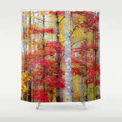 Fall Shower Curtains Items Similar To Rustic Shower Fall Shower Curtain Autumn Shower Woods Shower Curtain Forest
