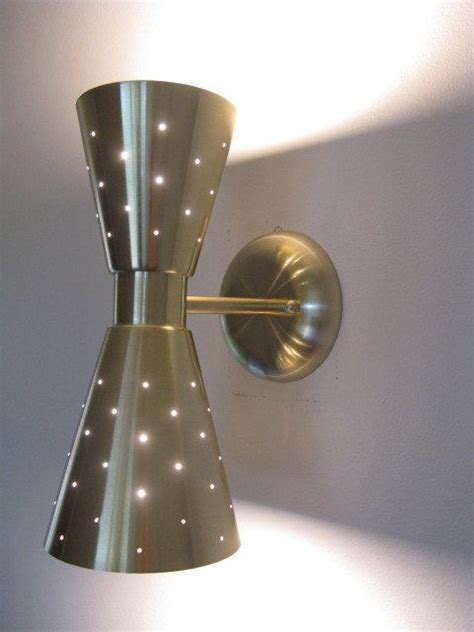 Mid Century Modern Wall Sconce Wall Sconce Ideas Mid Century Modern Double Cone Shaped