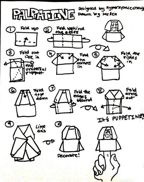How To Fold Origami Anakin Skywalker - how to make origami emperor palpatine 28 images
