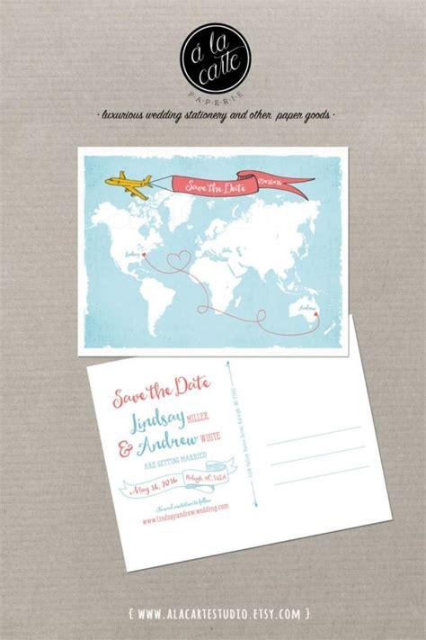 Wedding Banners Australia by World Map International Wedding Save The Date Card