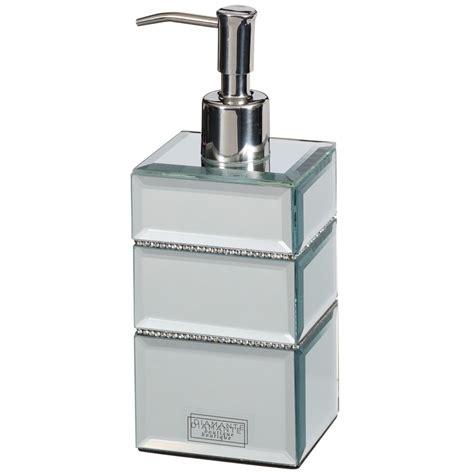 bathroom dispensers mirrored diamante soap dispenser home bathroom b m