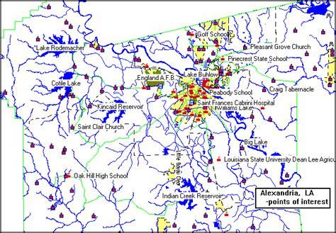 louisiana points of interest map alexandria consolidated plan executive summary