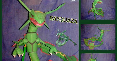 Rayquaza Papercraft - rayquaza paper model paperkraft net free