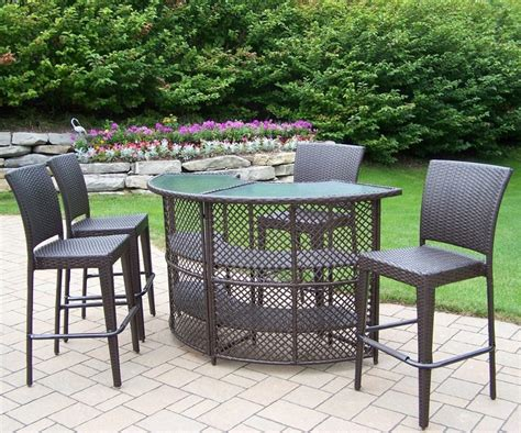 Outdoor Bar Table And Chairs Furniture Patio Bar Sets Outdoor Bar Furniture Patio Furniture The Bar Height Patio Table
