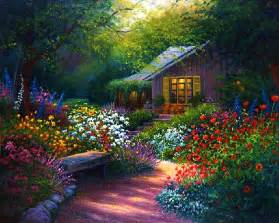 flower garden path paintings images flowers