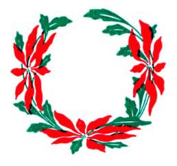 vintage christmas clip art poinsettia wreaths the