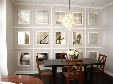 Wall mirrors for dining