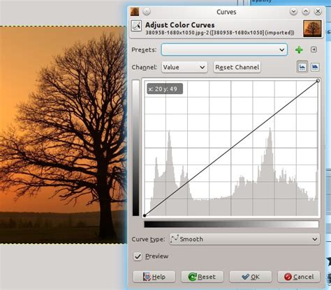 gimp tutorial landscape draw a sunset with tree silhouette landscape scene using