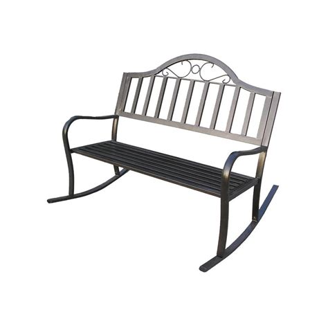 patio rocking bench oakland living rochester rocking patio bench shop your