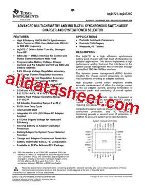 Bq24721c Bq 24721c 1 bq24721c datasheet pdf instruments