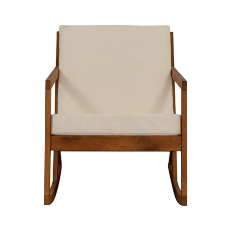 Rocking Accent Chairs by 55 Safavieh Safavieh White Upholstered Wood Rocking