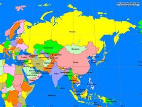 Asia Political Map by Asia Asian Continent Political Map A Learning Family