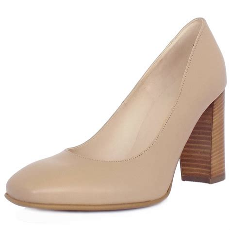 shoes heel kaiser womens trendy block heel court shoes