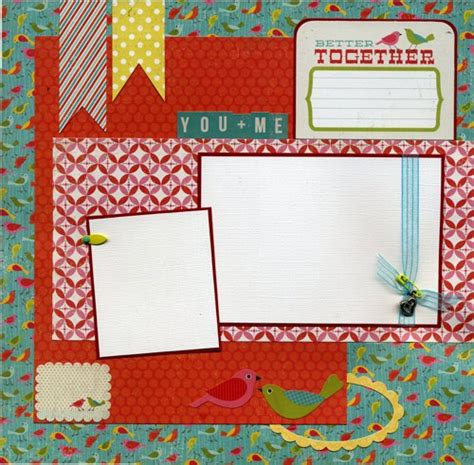 12x12 scrapbook templates 12x12 premade scrapbook page better together