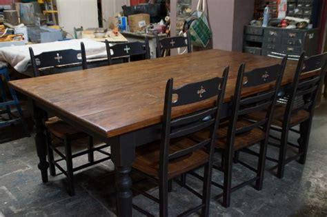 table bois cuisine table de cuisine dessus fait avec vieux bois vr 2345 le g 233 ant antique