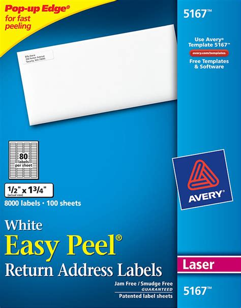 avery labels template 5167 avery 174 easy peel 174 white return address labels 5167 avery