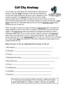 18 best images of cell city worksheet answer key cell