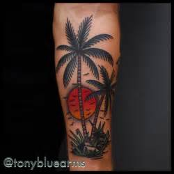 traditional sun tattoo traditional sun and palm tree tatuajes excelentes