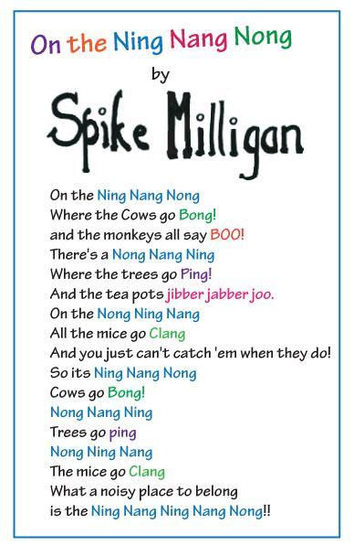printable version ning nang nong on the ning nang nong by spike milligan bath knight blog