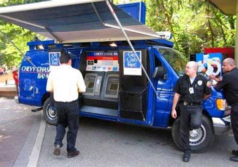 Alarm Mobil Wheel mobile atms banks on wheels