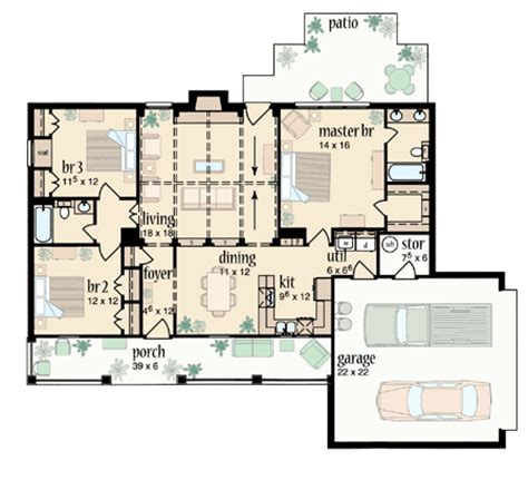 Split Master Bedroom by Split Bedroom Ranch Design 8242jh 1st Floor Master