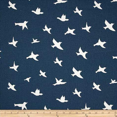 printable cotton fabric silhouette premier prints bird silhouette premier navy discount