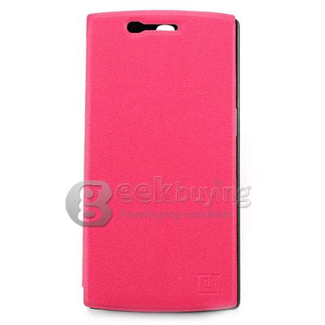 Ipearl New Leather With Stand Pink 1 protective cover flip stand leather for oneplus a0001