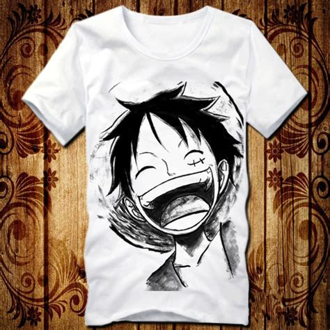 Tshirt E T One Clothing anime one clothing luffy laughing costume white t
