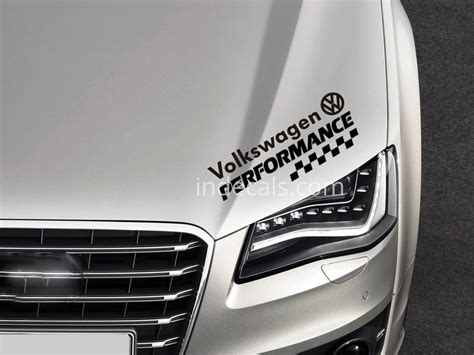 Vw Performance Aufkleber by Black Volkswagen Stickers Decals Indecals